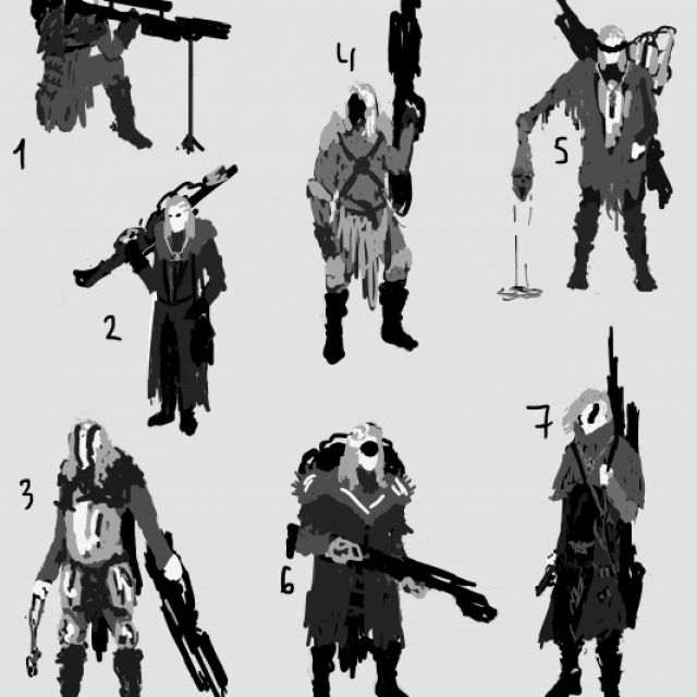 Hunter sketches
