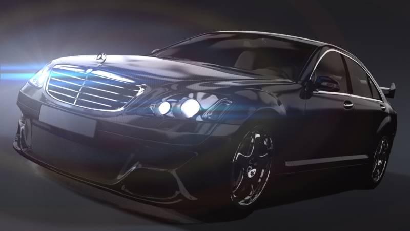 Анимационные картинки автомобили мерседес