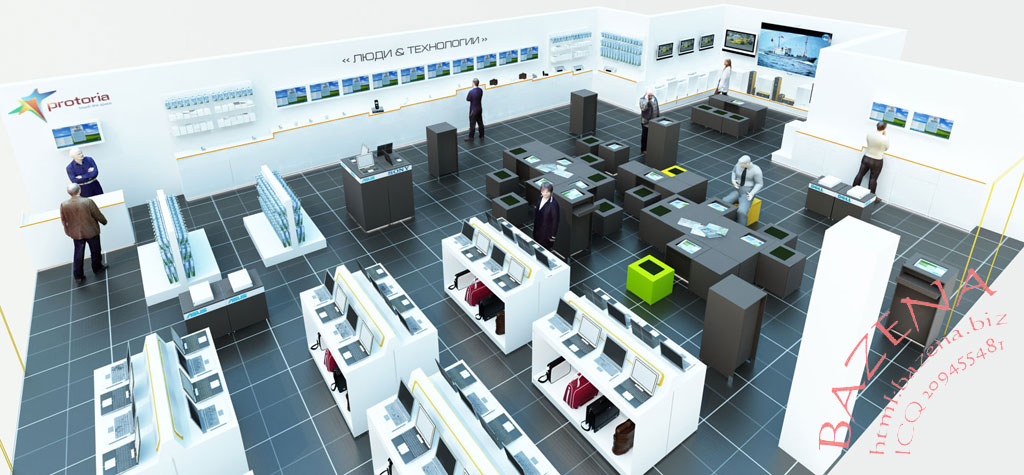 Дизайн промышленного магазина