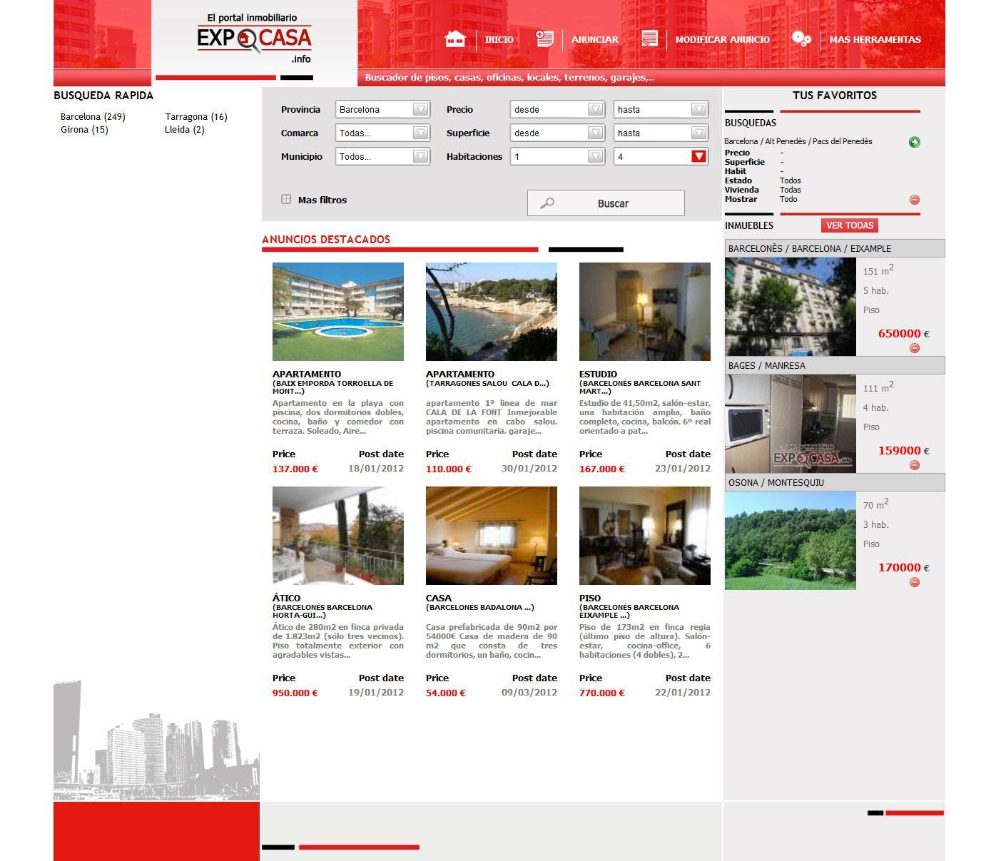Испанские сайты по продаже недвижимости