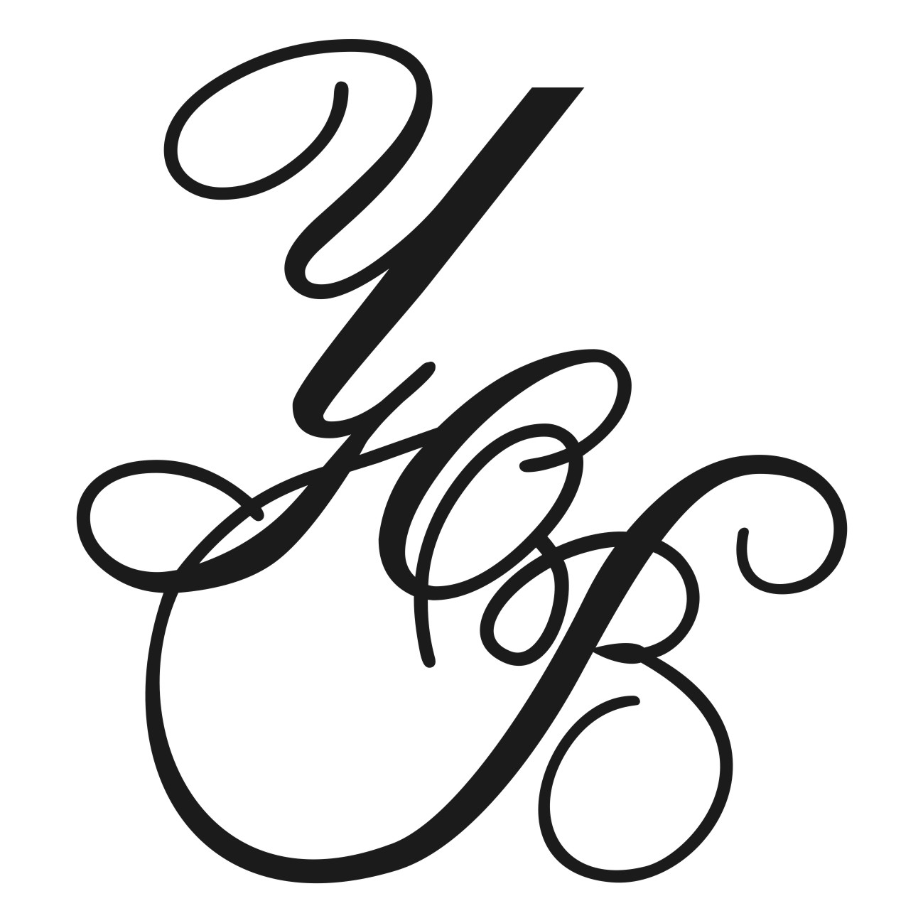 Буква м для росписи