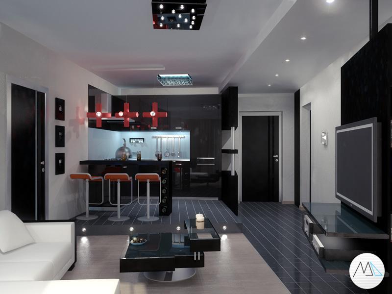 Гостиная-студия (800x600) нажмите для просмотра в полный размер
