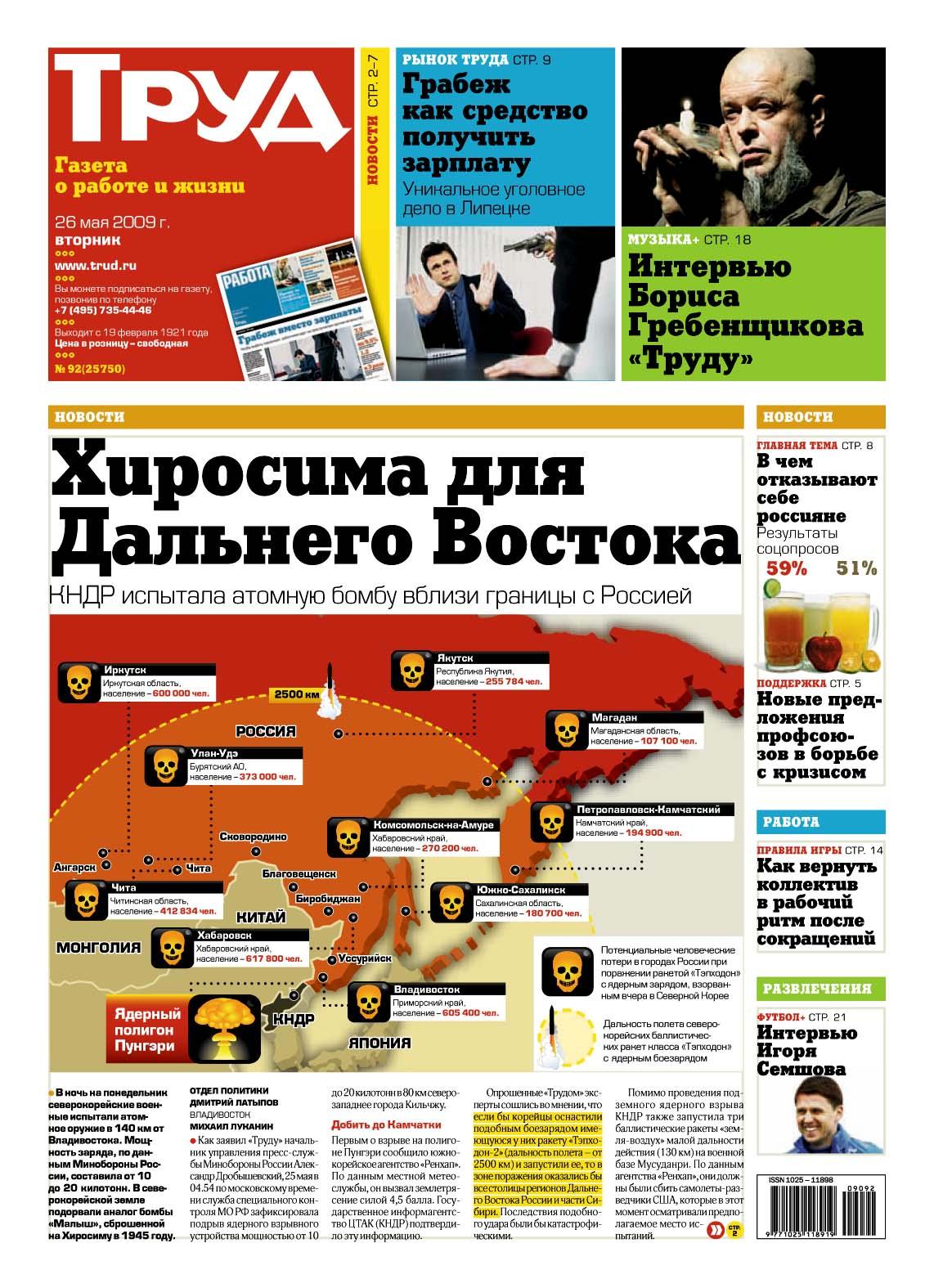Статьи по последним новости россии