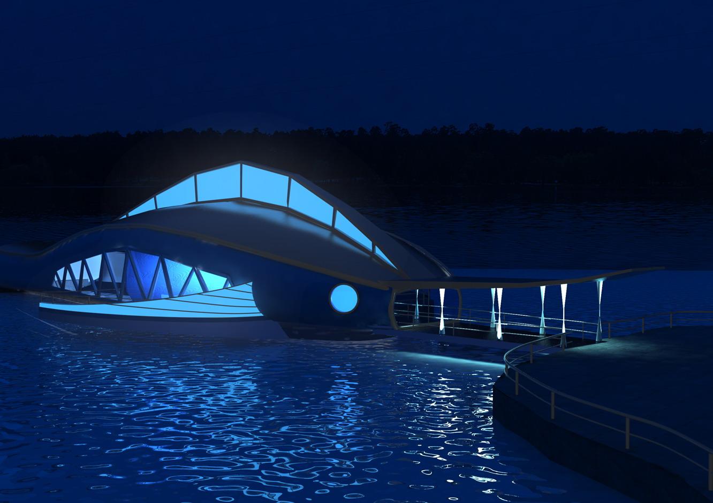 Ресторан на воде Ночной вид Диплом Фрилансер Ирена Полякова  Ресторан на воде Ночной вид Диплом