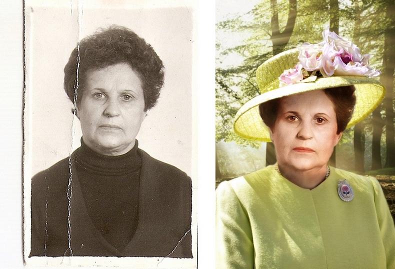 Как сделать из старой фотографии портрет