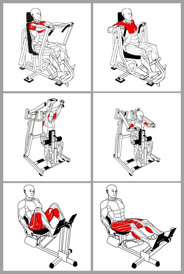 Инструкции к силовым тренажерам