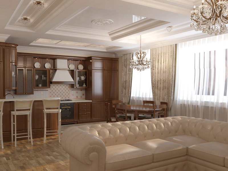 Дизайн интерьера гостиная кухня фото