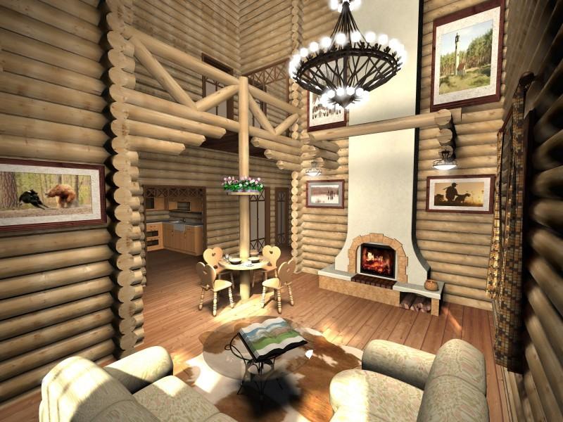 Деревянный интерьер 800x600 нажмите для