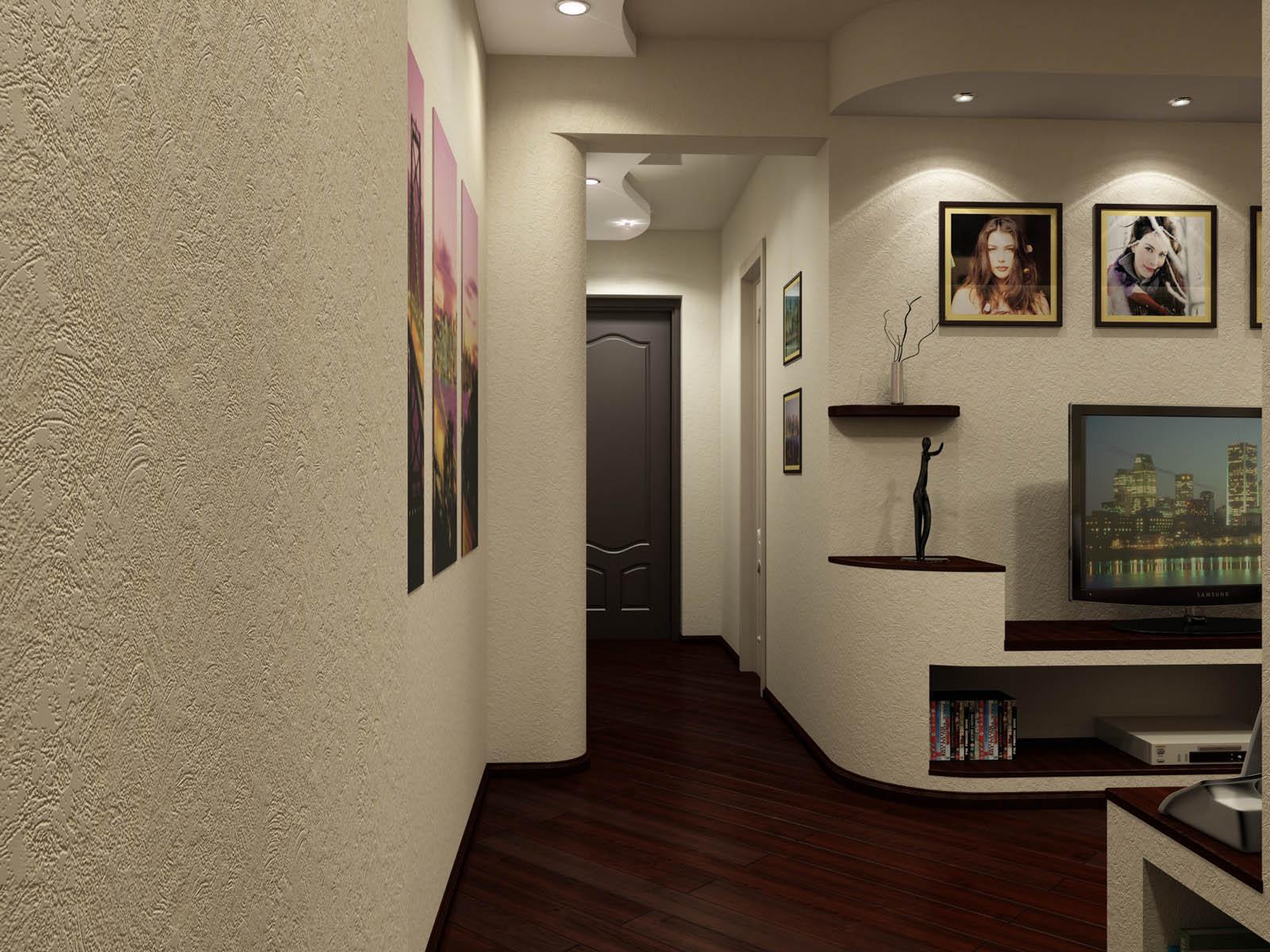 Гостиная кухня коридор прихожая 1