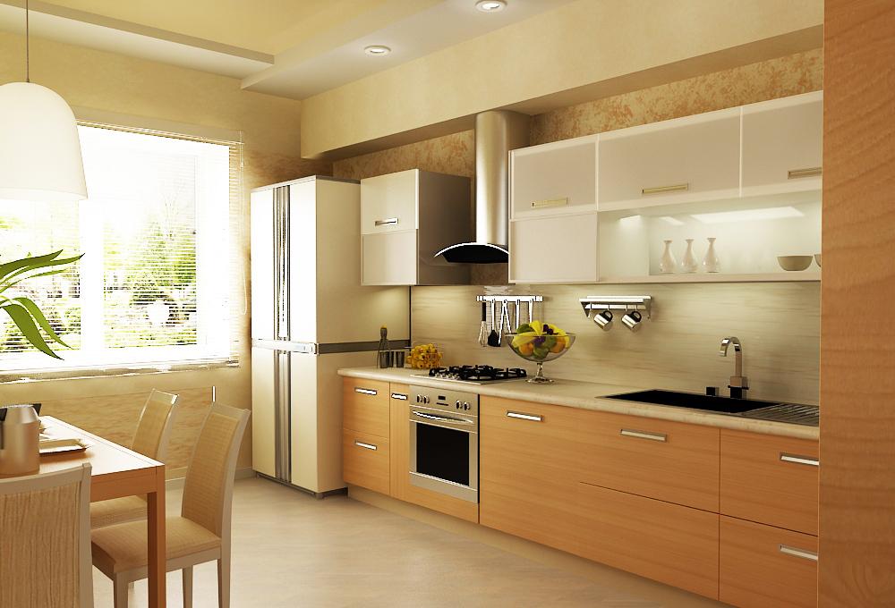 теплые тона кухни фото 24188