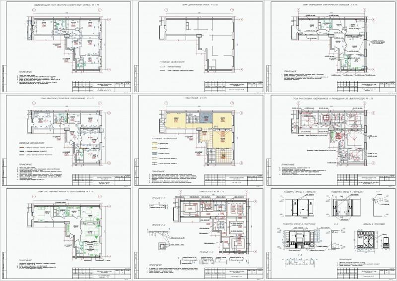 Дизайн квартиры эскизный проект