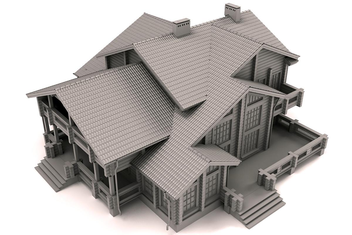 Архитектурная визуализация и 3d модель проекта жилого дома.
