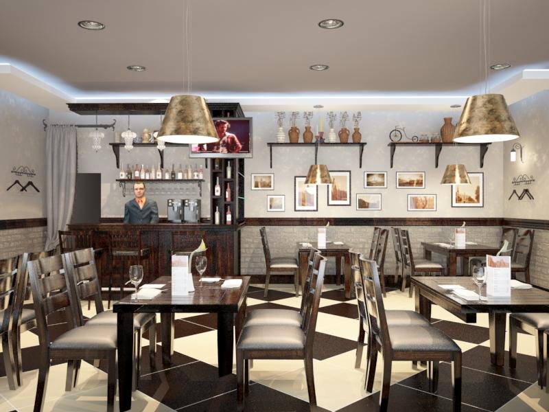 Дизайн шашлычной кафе
