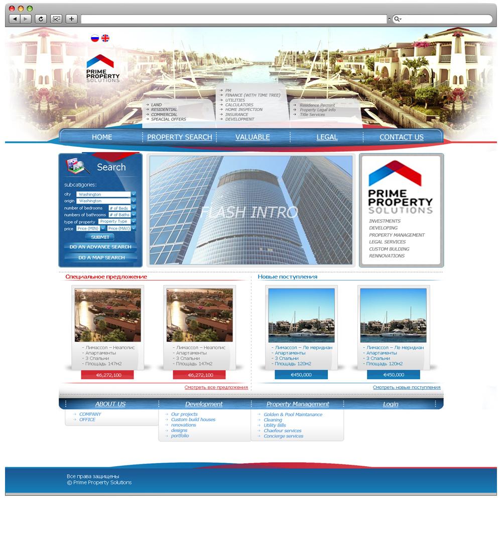 Сайт продажи недвижимости за границей