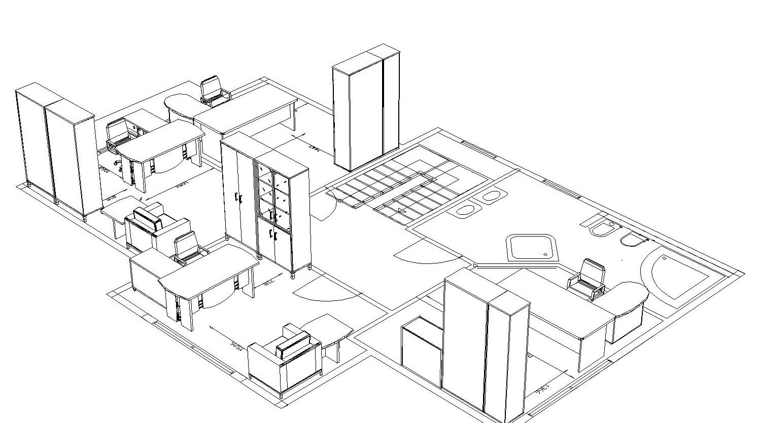 Чертеж Планировка Мебели В Офисе