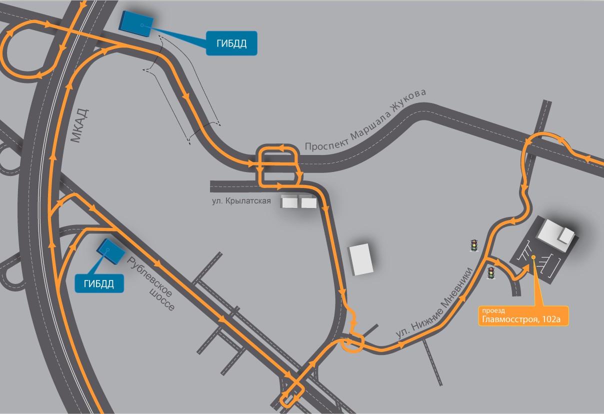схема проезда к автодрому боровая
