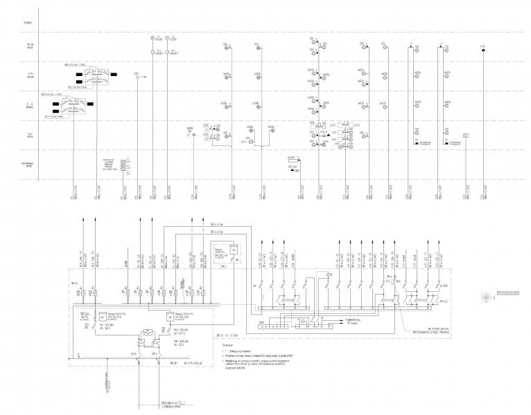 Система электроснабжения жилого дома со встроенными помещениями (766x600) нажмите для просмотра в полный размер.