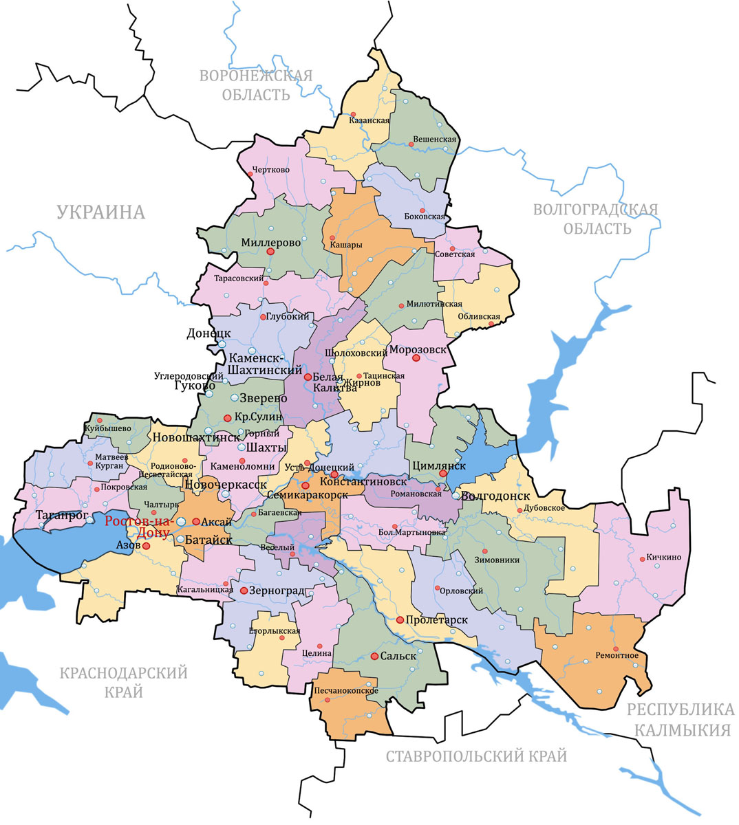 Карта Ростовской Области - murmanskmebel: http://murmanskmebel.weebly.com/blog/karta-rostovskoj-oblasti