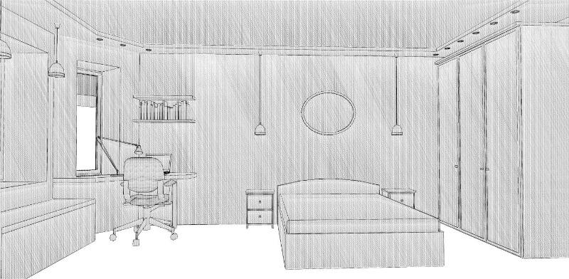 эскиз комнаты: