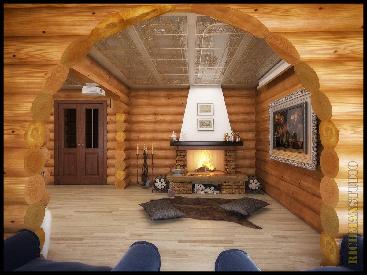 Срубы домов интерьер срубов фото
