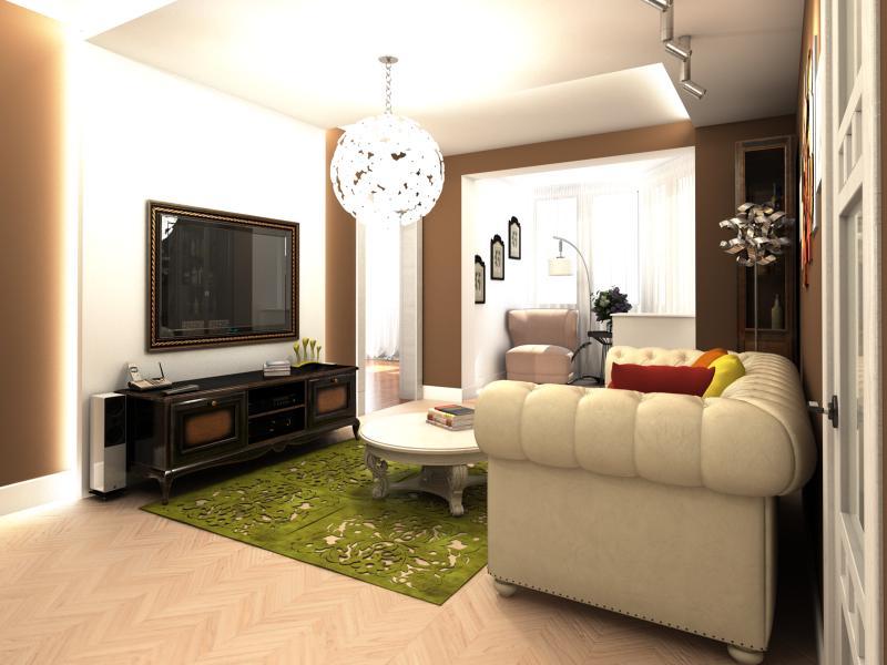 Дизайн интерьера гостиной (п-44т) - фрилансер наталья тинько.