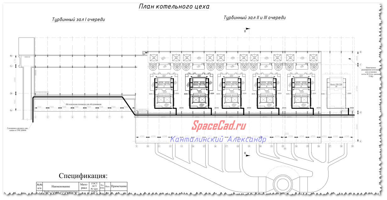 План котельного цеха 1231 x