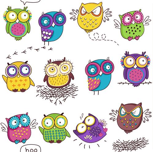 Нарисованные совы для вашего вдохновения