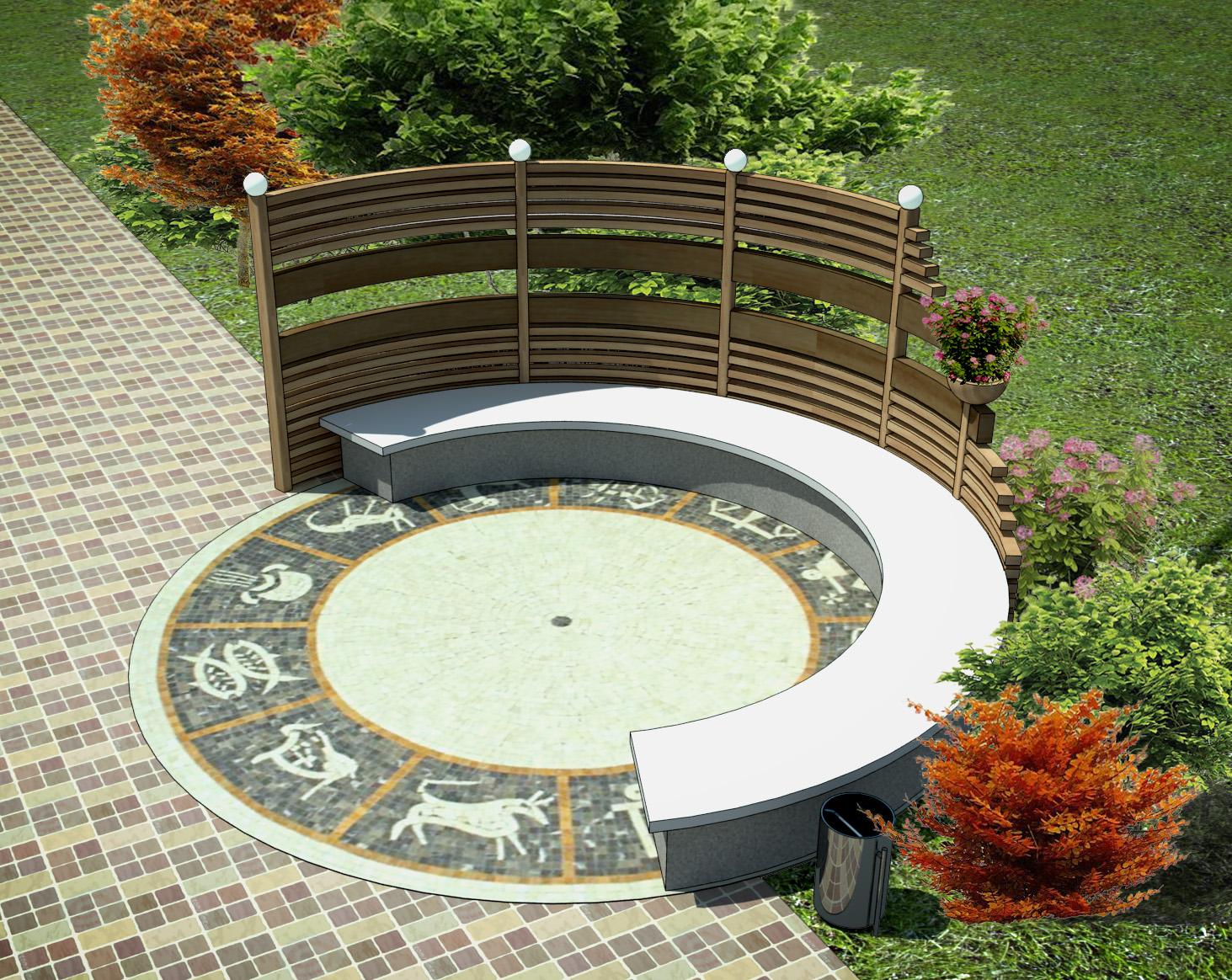 Малая архитектурная форма из бетона своими руками