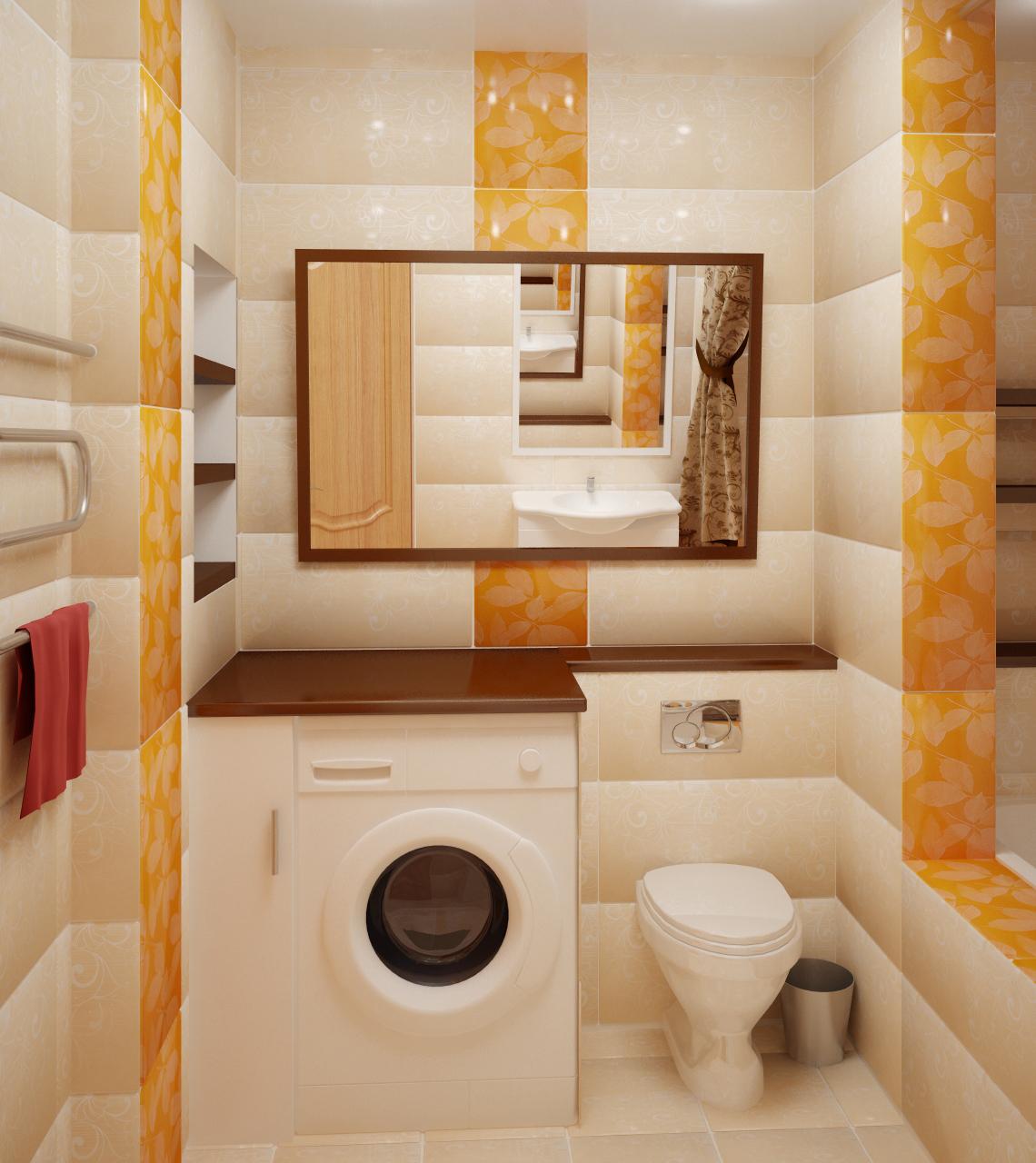 Совмещенная ванна с туалетом дизайн 4 кв м