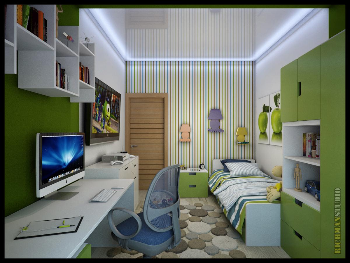 Обустроить детскую комнату 8 кв