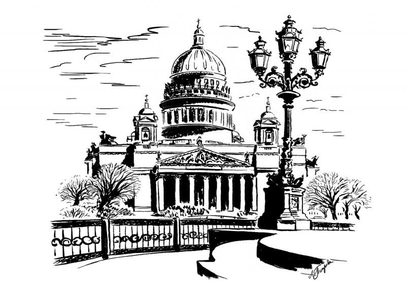 детей рисунки исаакиевский собор