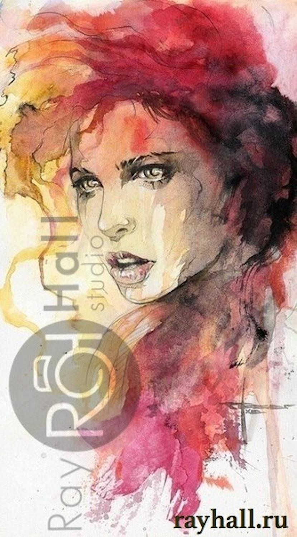 Рисунки девушек красками 12 фотография
