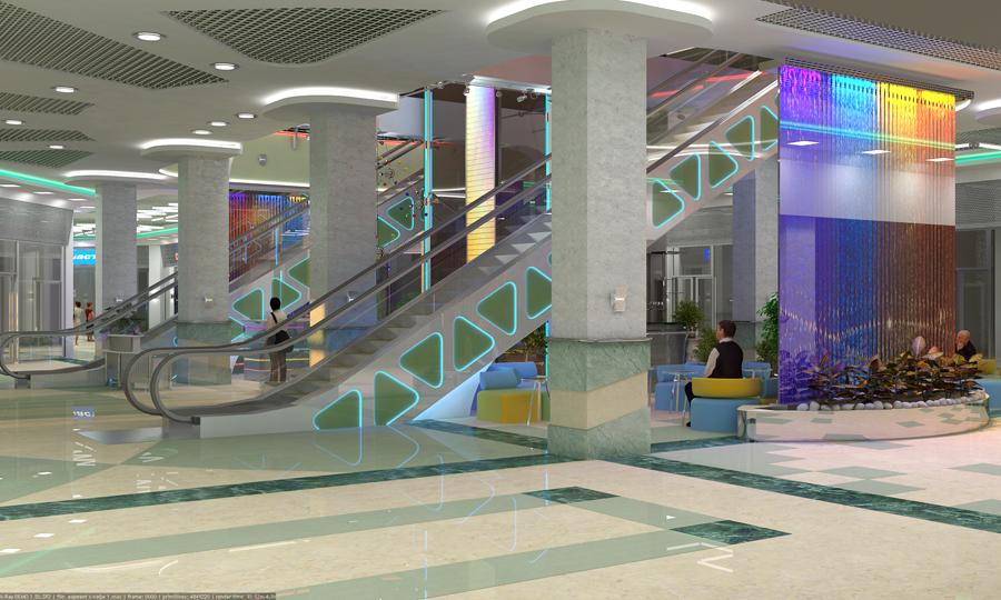 Дизайн интерьеров торговых центров