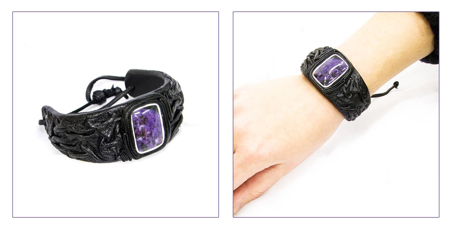 Кожаный браслет для женщин своими руками 355