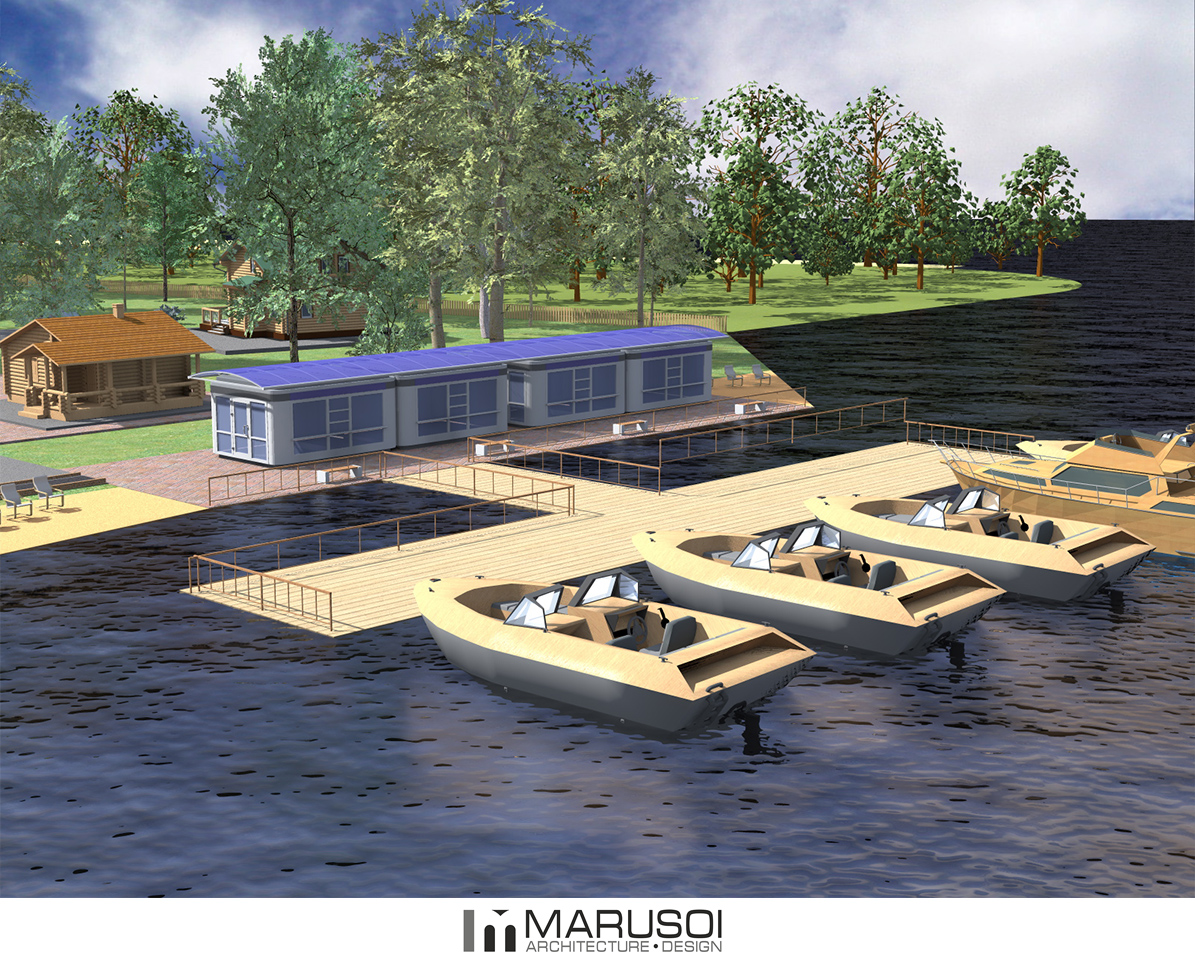 лодочная станция города бор