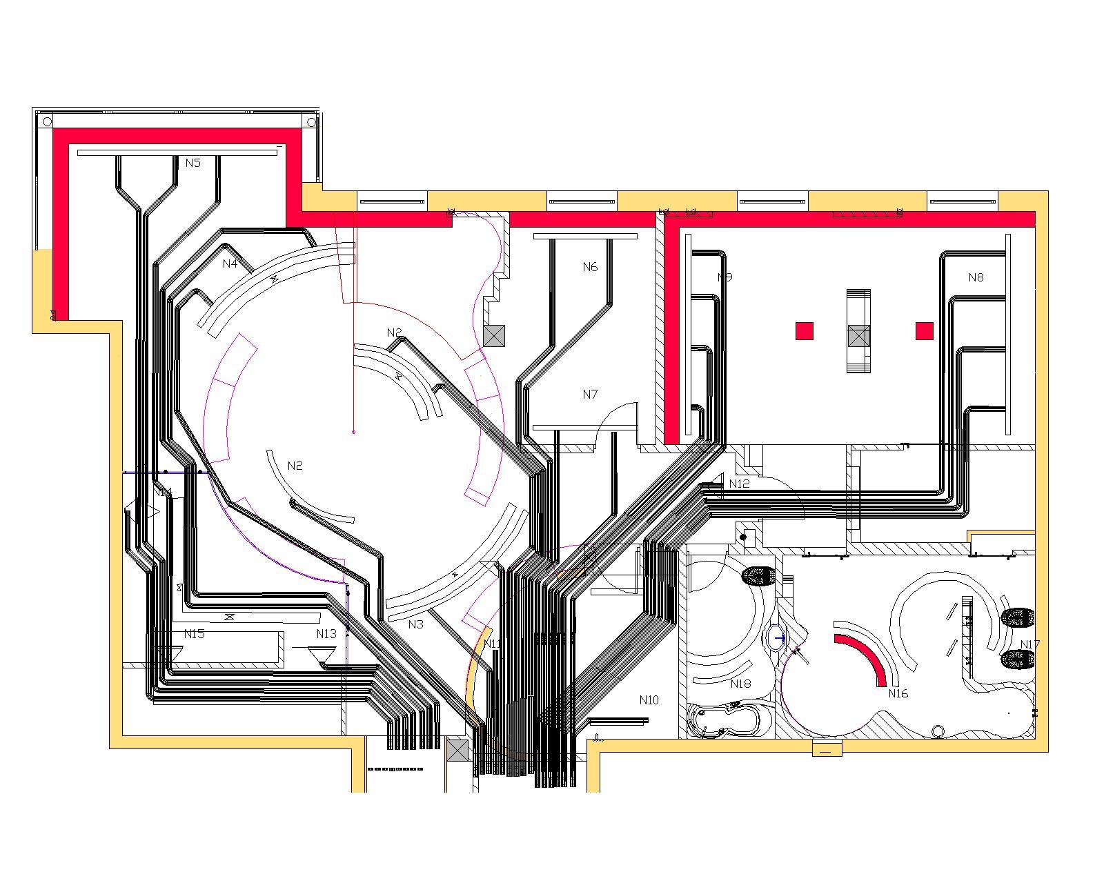 Схема размещения кондиционера в квартире