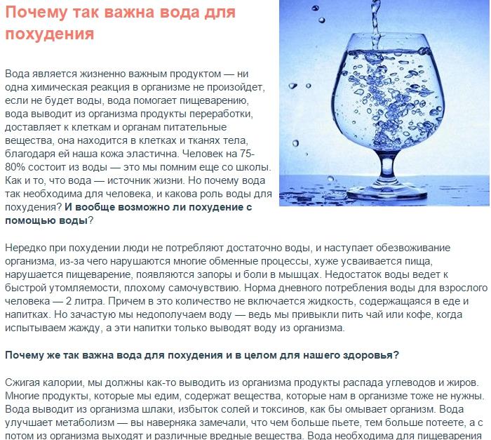 Вода выходит из организма почему 190