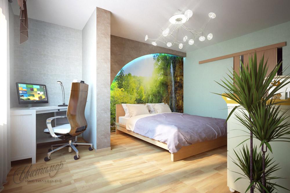 Интерьер спальня кабинет фото