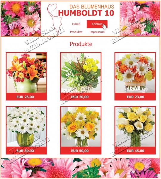 Создать сайт цветочного магазина