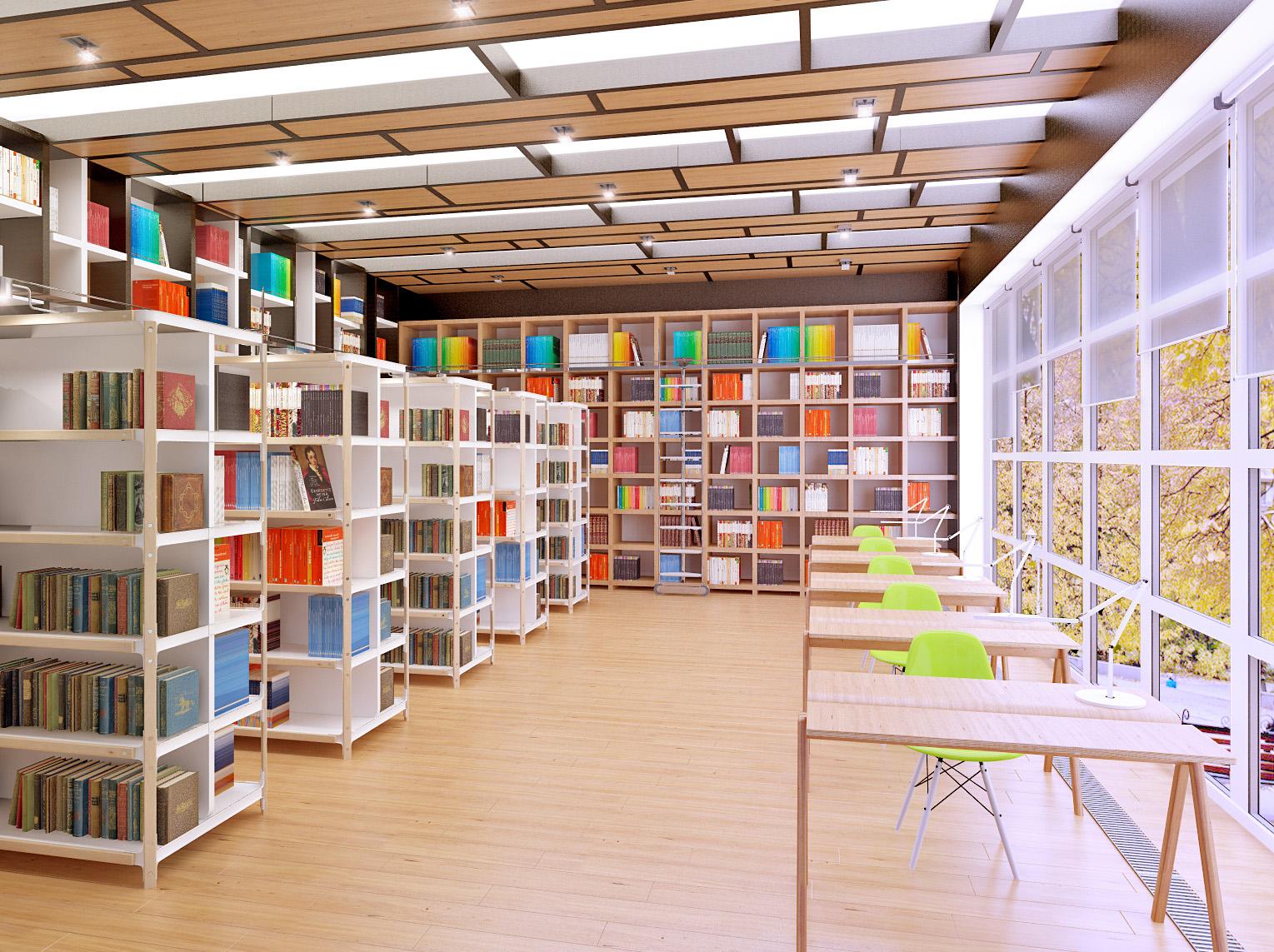 Дизайн помещений в библиотеке