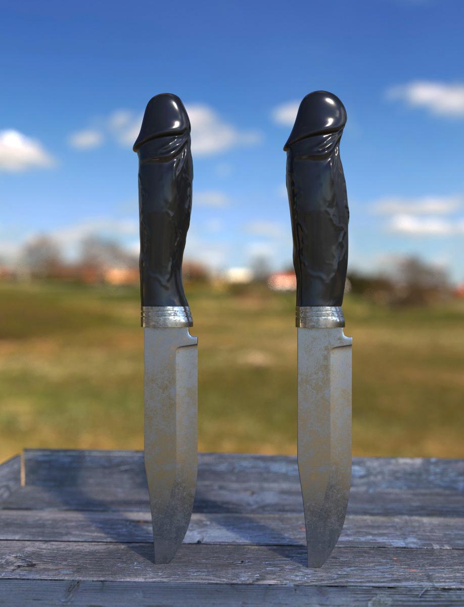 Как засунуть нож в пенис