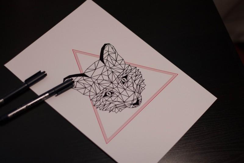 геометрический рисунок тату