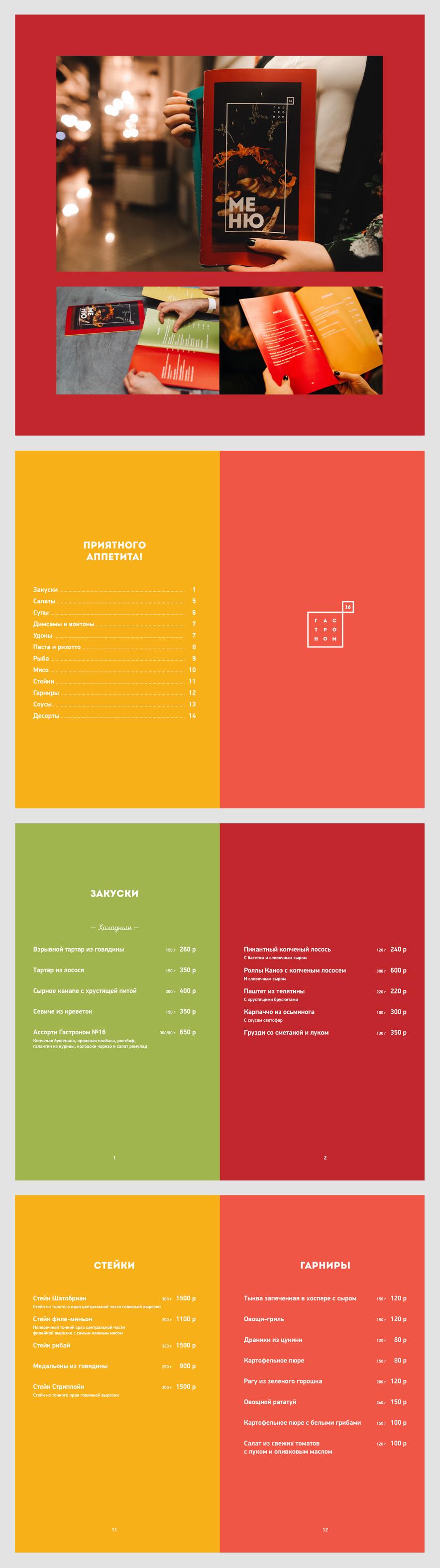 Верстка и дизайн меню