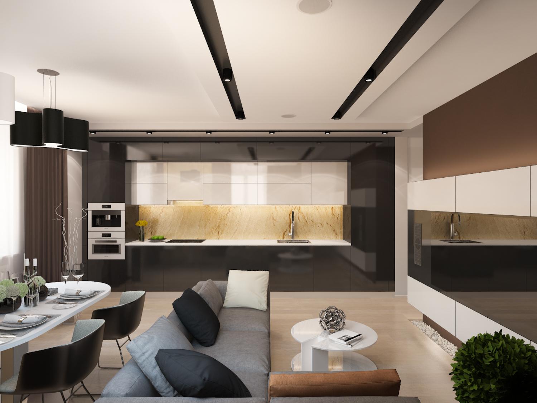 Дизайн гостиной столовой фото 2018 современные идеи