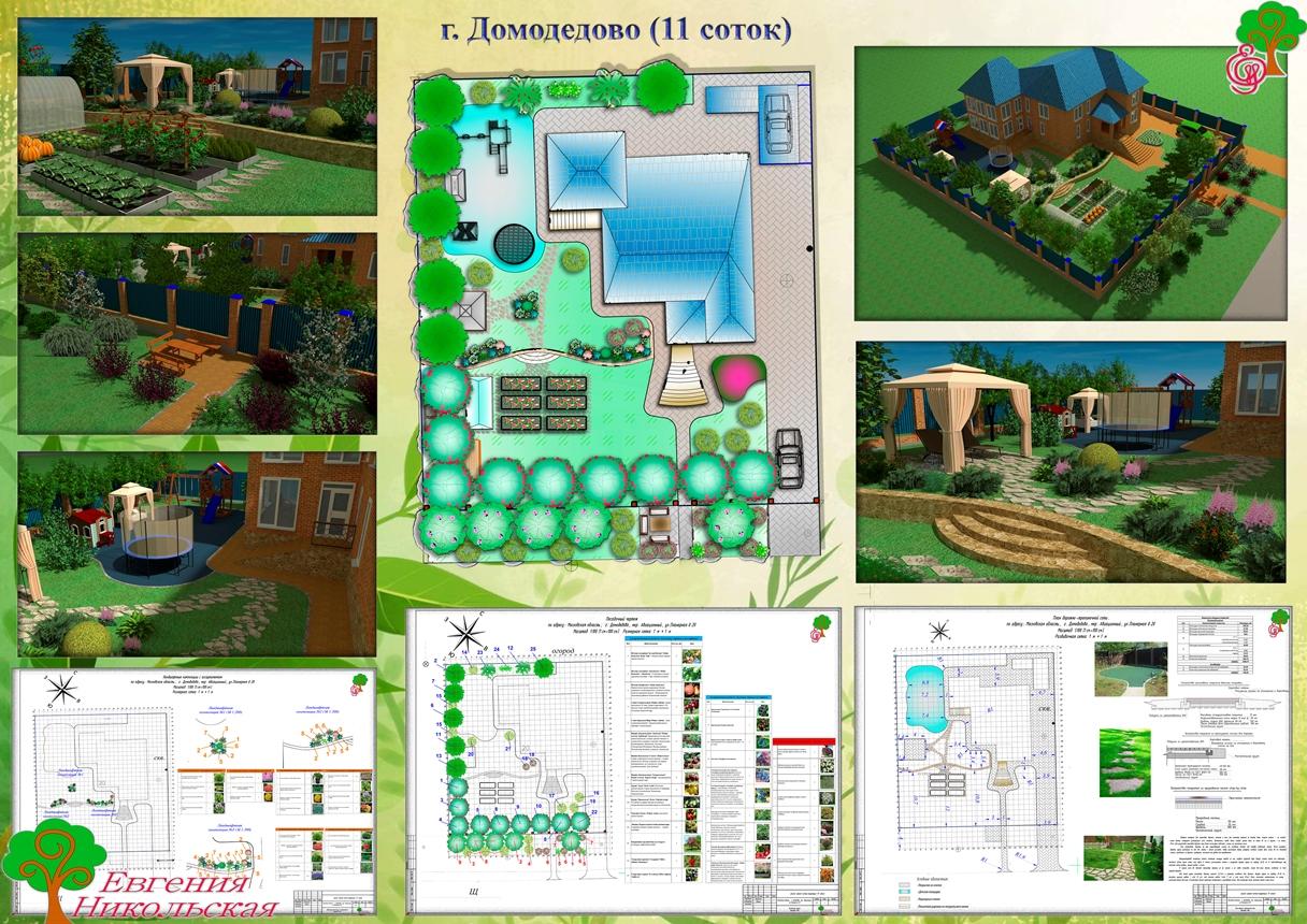 Дизайн участка 11 соток и проекты