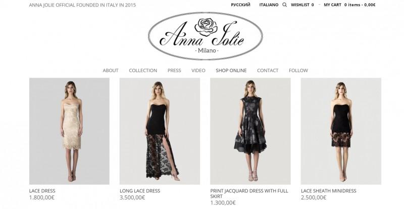 Сайт-магазин модного Fashion бренда Anna Joli (Milano) - Фрилансер ...