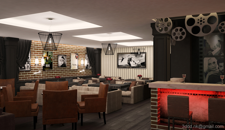 Дизайн кафе и баров внутри