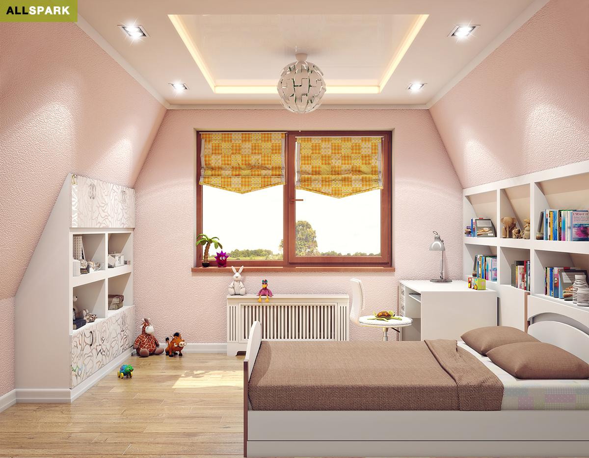 Дизайн детской комнаты для частного дома
