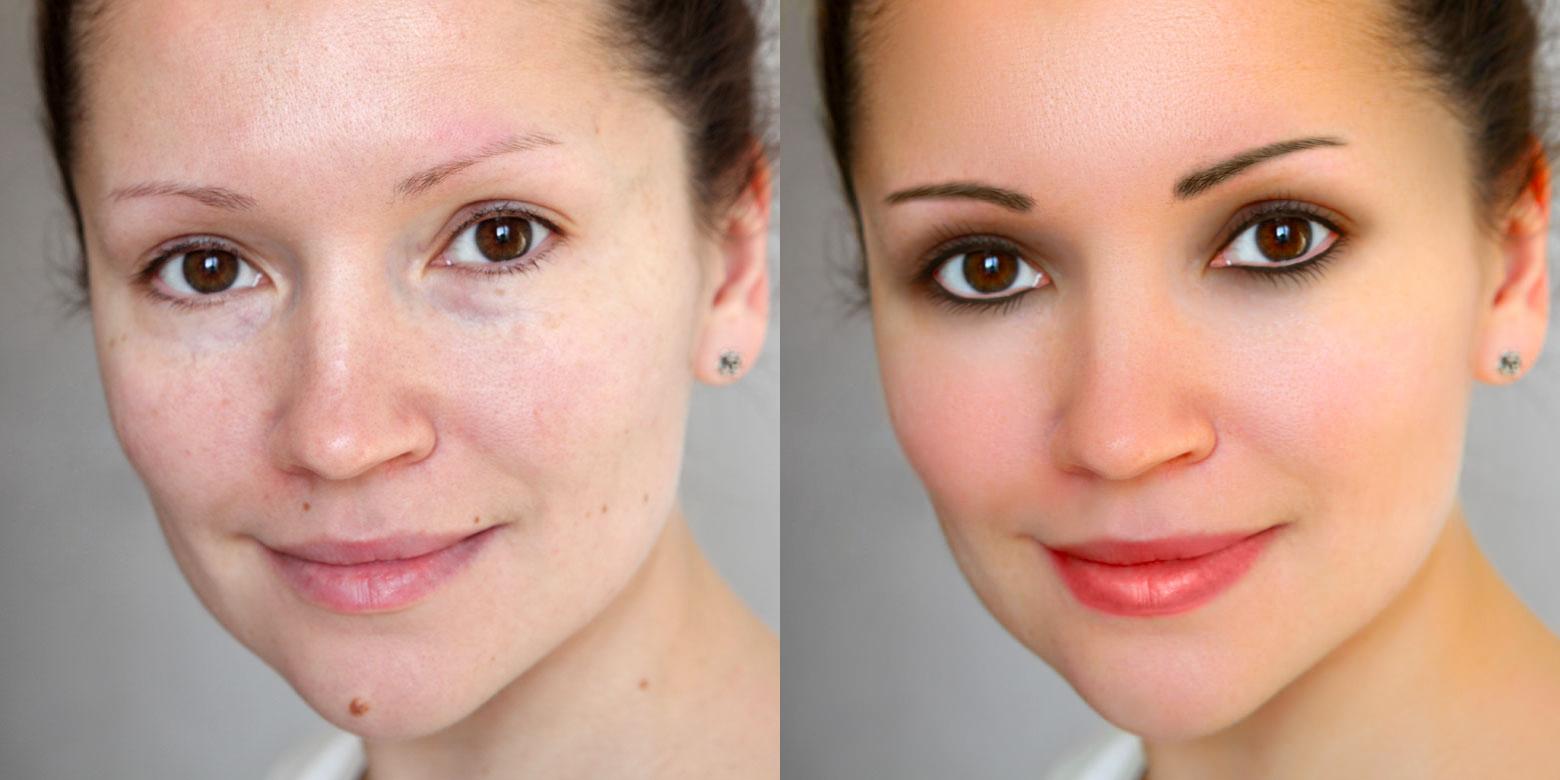 Фотошоп макияж для лица