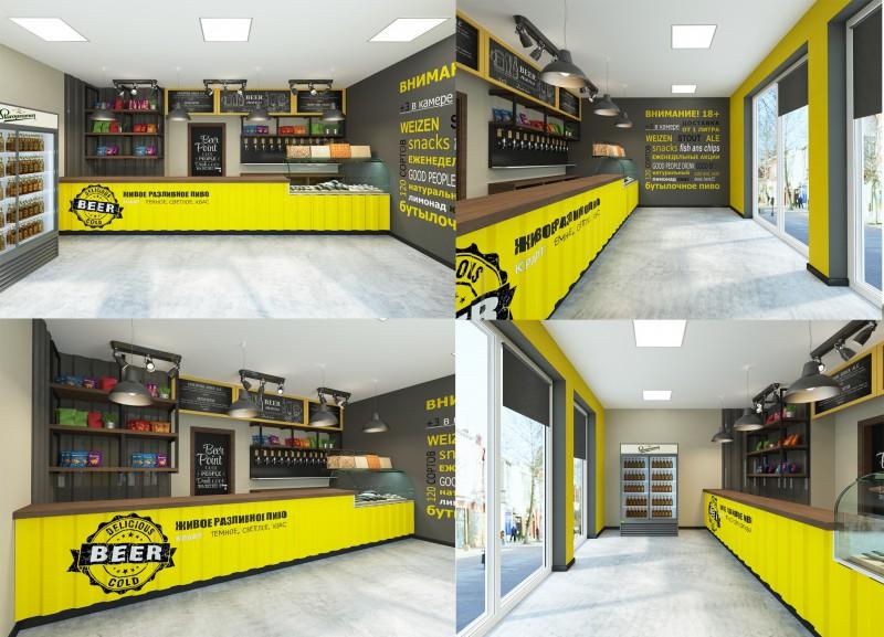 дизайн проект пивного магазина фото